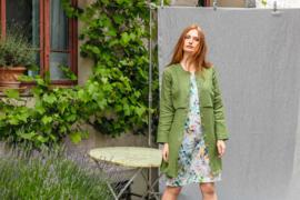 Naturalmente - Linnen jurk - bloemen print