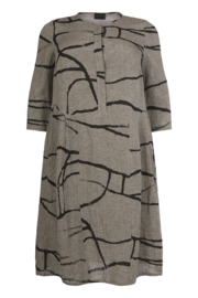 QNeel - Dress shaped - Linen - Frost Grey