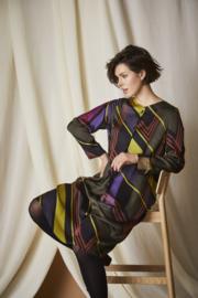 QNEEL - GRAFIC VISCOSE DRESS