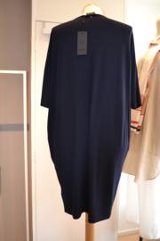 Qneel - Jersey dress oversized - dark blue