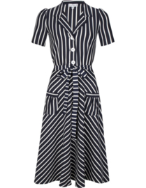 Very Cherry - dress navy white stripes