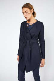 Lanius - Felted Wool Jacket Dark Blue