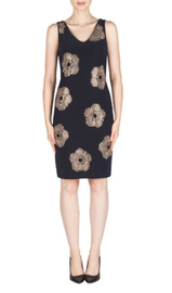 Joseph Ribkoff - Dress Dark Blue with gold studs