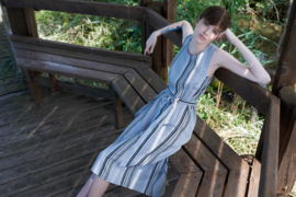 Gazel - Dress Gelib - Grey stripes