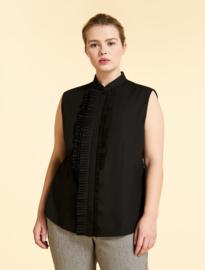 Marina Rinaldi -  Cotton poplin shirt - black