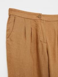 White Stuff - Maddie linen trouser -  brown