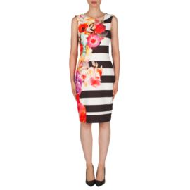 Joseph Ribkoff - Dress flower stripes