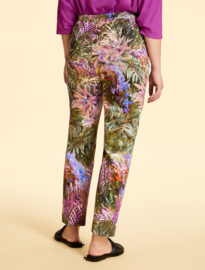 Marina Rinaldi - Cotton sateen trousers - pink