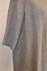 Qneel - Comfy linen dress - Light Grey