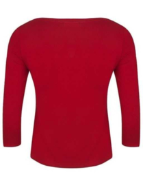 Very Cherry - Boatneck Top - red