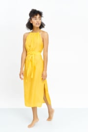 Jungle Folk - Ella Dress - Banana Yellow - Silk/Cotton