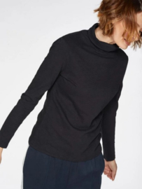 THOUGHT - ORGANIC COTTON - ROLL NECK - BLACK