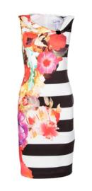 Joseph Ribkoff - Dress flower stripes