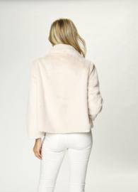 Due Amanti - Bont kort jasje - wit