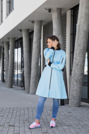 Blaest - Elegante Regenjassen - Licht blauw