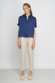 Jungle Folk - Tona Blouse - nightblue - Silk/Cotton