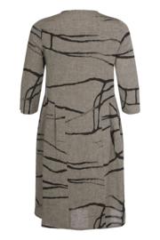 QNeel - Dress shaped - Linen - Frost Grey