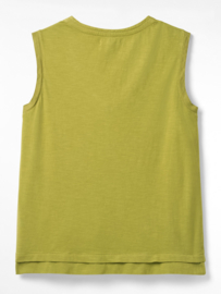 White Stuff - Anu linen top - pea green