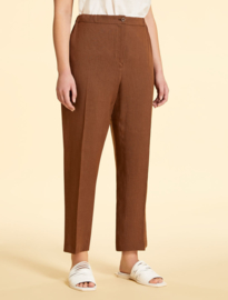 MARINA RINALDI -  LINEN TROUSERS - BROWN
