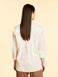 MARINA RINALDI - ORGANIC COTTON SHIRT - WHITE BEIGE