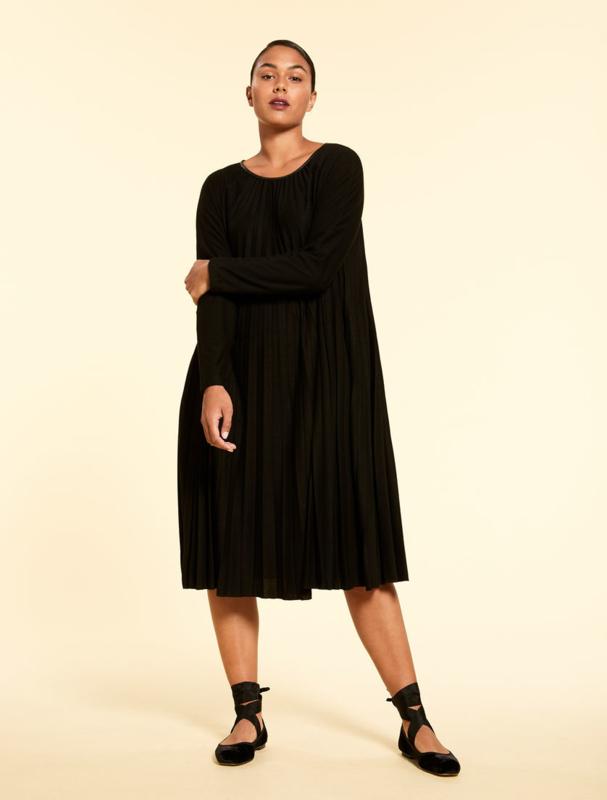 MARINA RINALDI - OCIMO PLEATED JERSEY DRESS