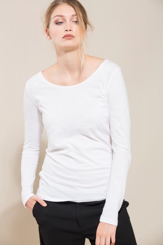 Lanius - Long sleeve organic cotton - white