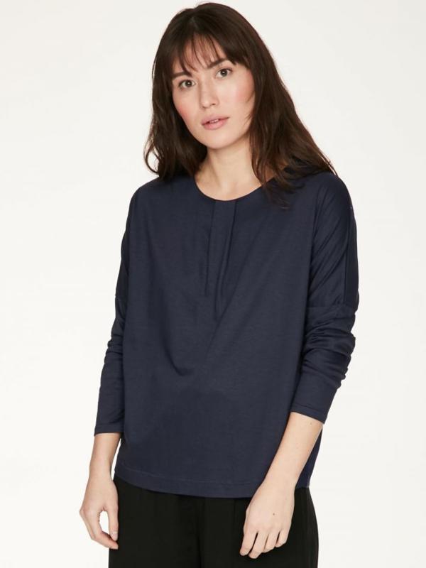 THOUGHT - Teresa organic cotton jersey t'shirt - midnight navy