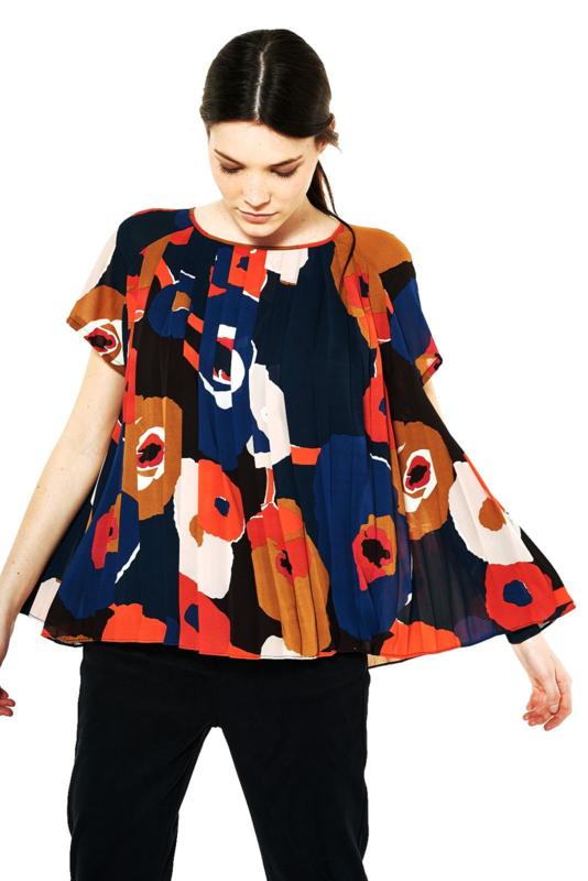 Gazel - Pleated blouse