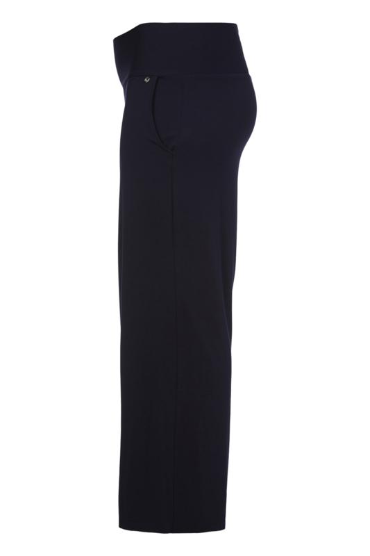 QNEEL - Jersey strait trousers - dark blue