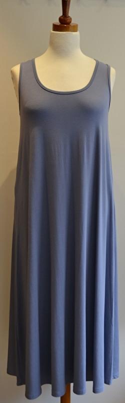 Jersey wide Dress Aqua