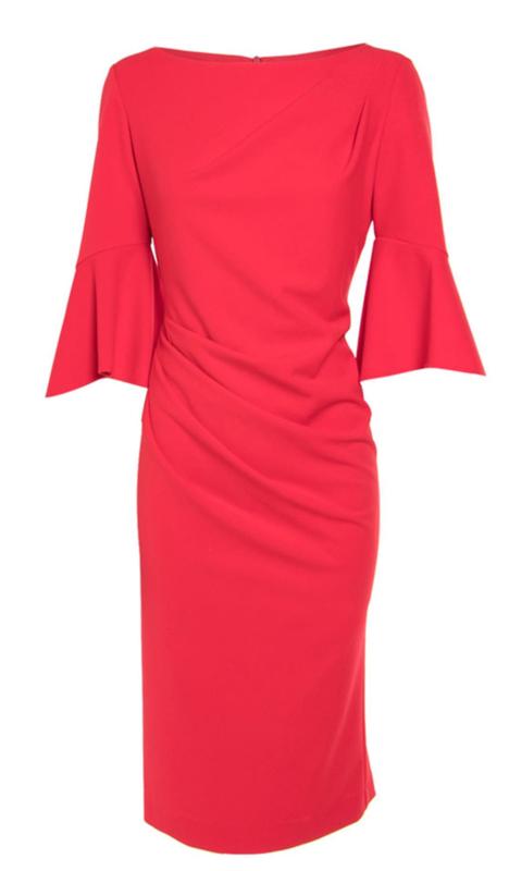 rode jurk met lange mouwen
