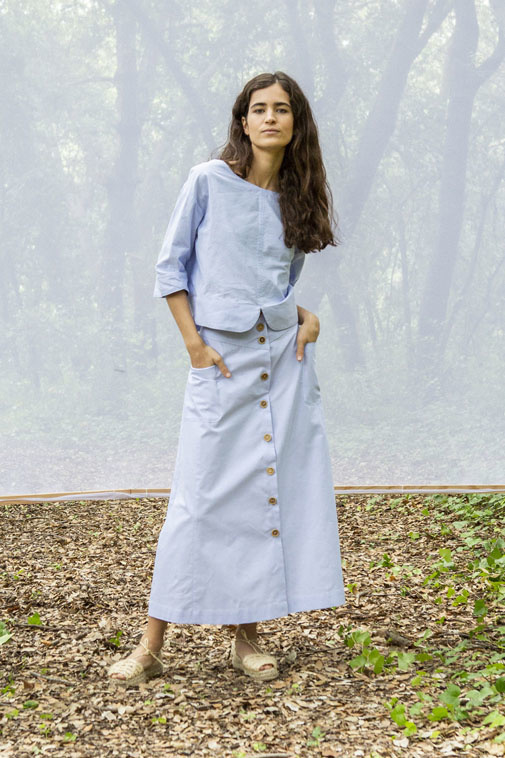 Suite13 - Frida Oxford shirt - wear two sides