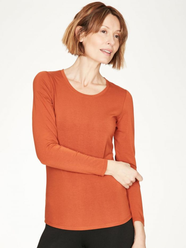 THOUGHT - Bamboo t'shirt - spiced orange