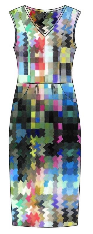 MLY by Emily Hermans - Silk summer stretch Dress