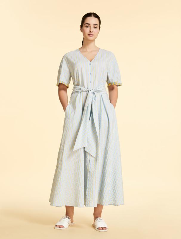 MARINA RINALDI - COTTON DRESS - SKI BLUE
