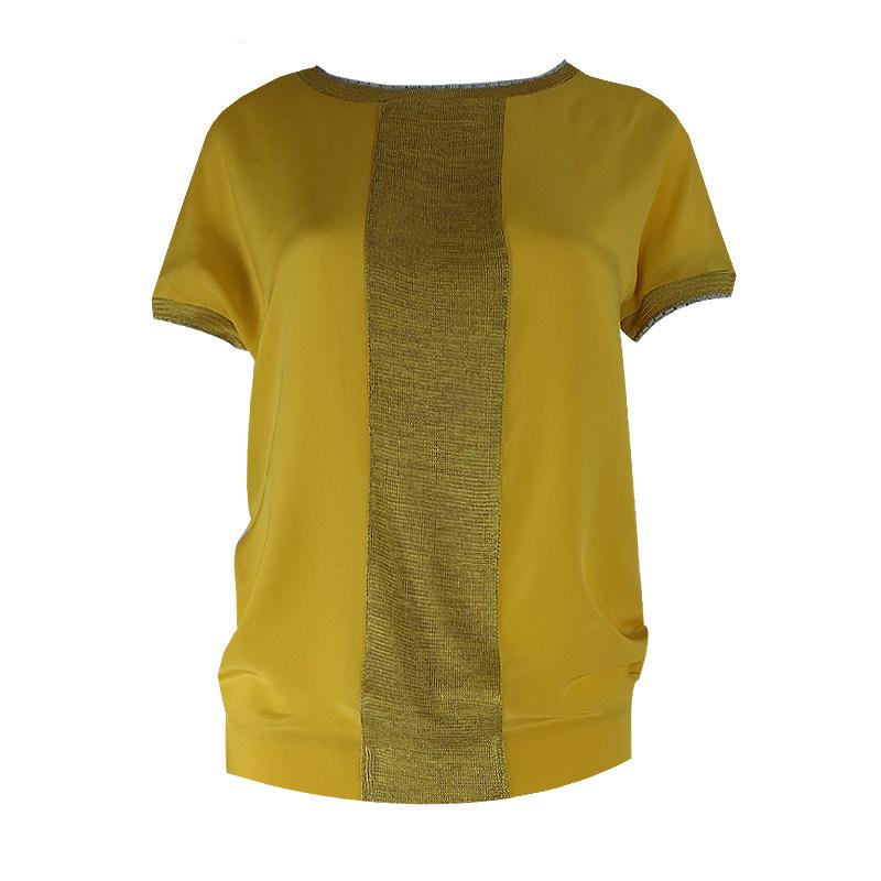 Icke - shirt silk yellow/oker