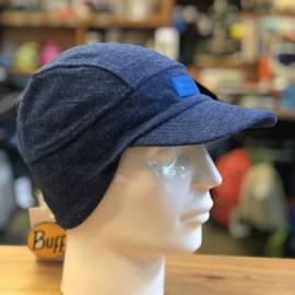 Buff Merino Wool Fleece Cap Blue