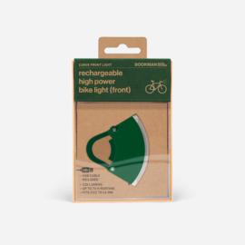 Bookman fietslamp Curve front Green