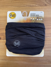Lightweight Merino Wool Buff Black