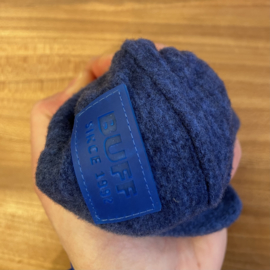 Buff Merino Wool Fleece Cap Blue