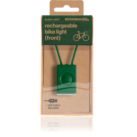 Bookman fietslamp Block Light front Green