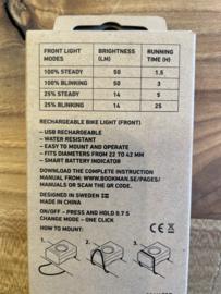 Bookman fietslamp Block Light front Black