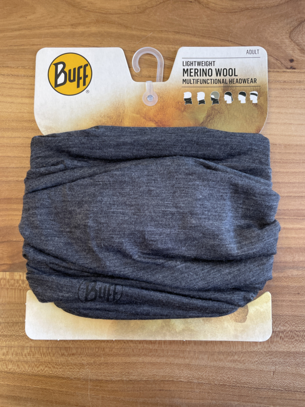 Lightweight Merino Wool Buff Solid Grey
