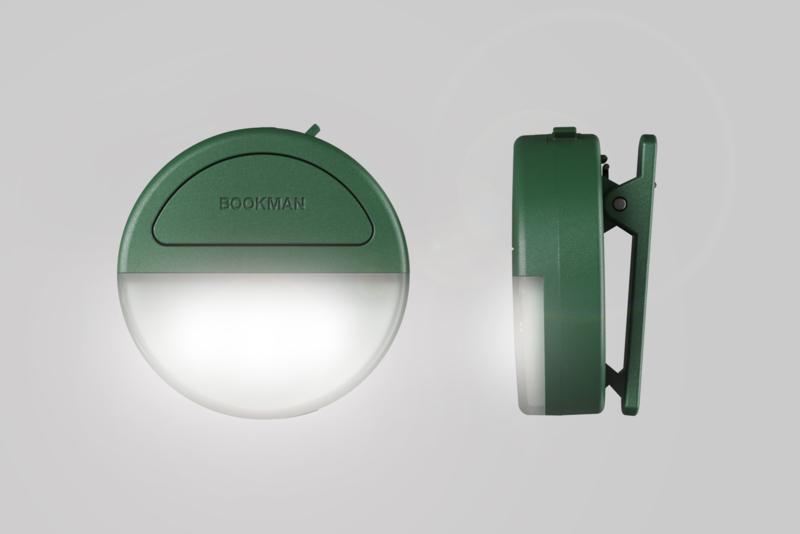 Bookman Eclipse clip-on lampje Green