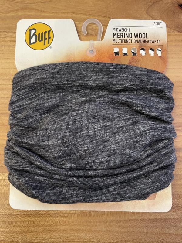 Midweight Merino Wool Buff Graphite Multi stripes