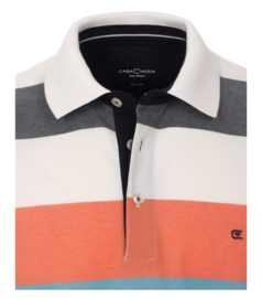 Polo Shirt Blauw/Zalm 903443300-456 mt 51/52 (5XL)