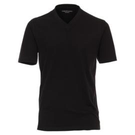 V-hals T-Shirt Zwart  92600-800 S t/m 6XLARGE DUO-PACK