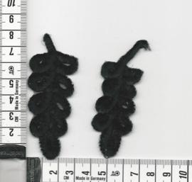 APPLICATIE Lauwertak Zwart Fluweel 60 sets
