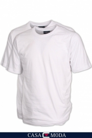 T-Shirt Wit Casa Moda 92180-0 mt. 4XLarge DUO-PACK