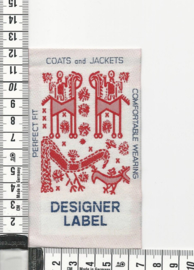 LABEL Designerlabel Rood 18 stuks